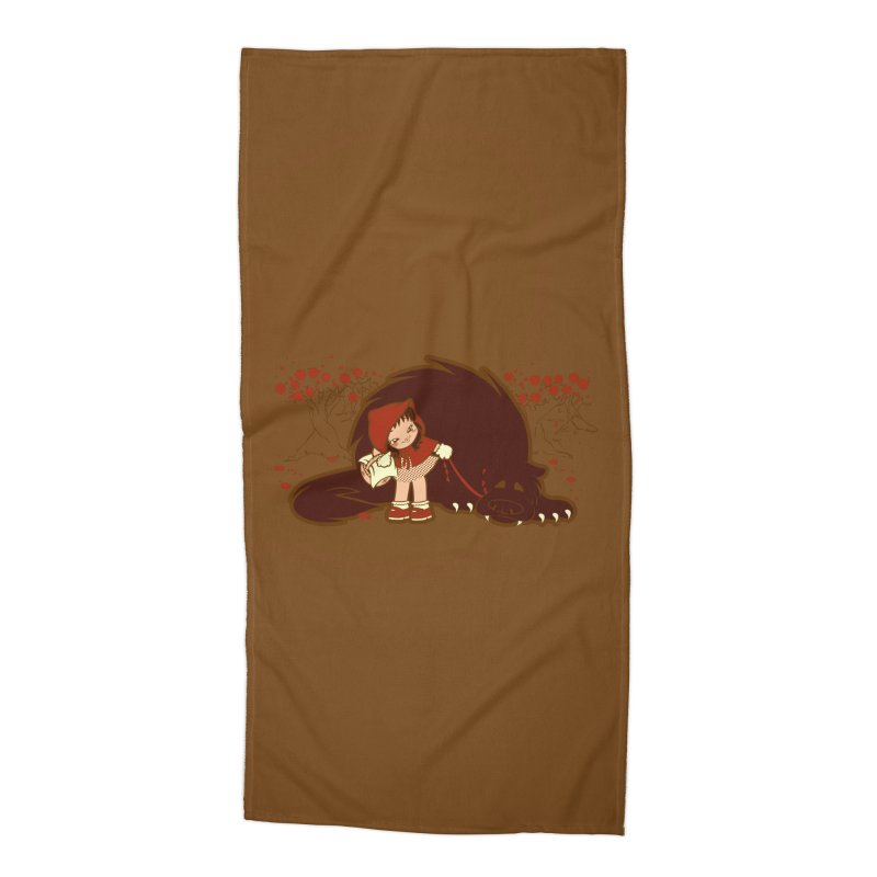 Bossy Red Riding Hood Accessories Beach Towel by AlePresser's Artist Shop