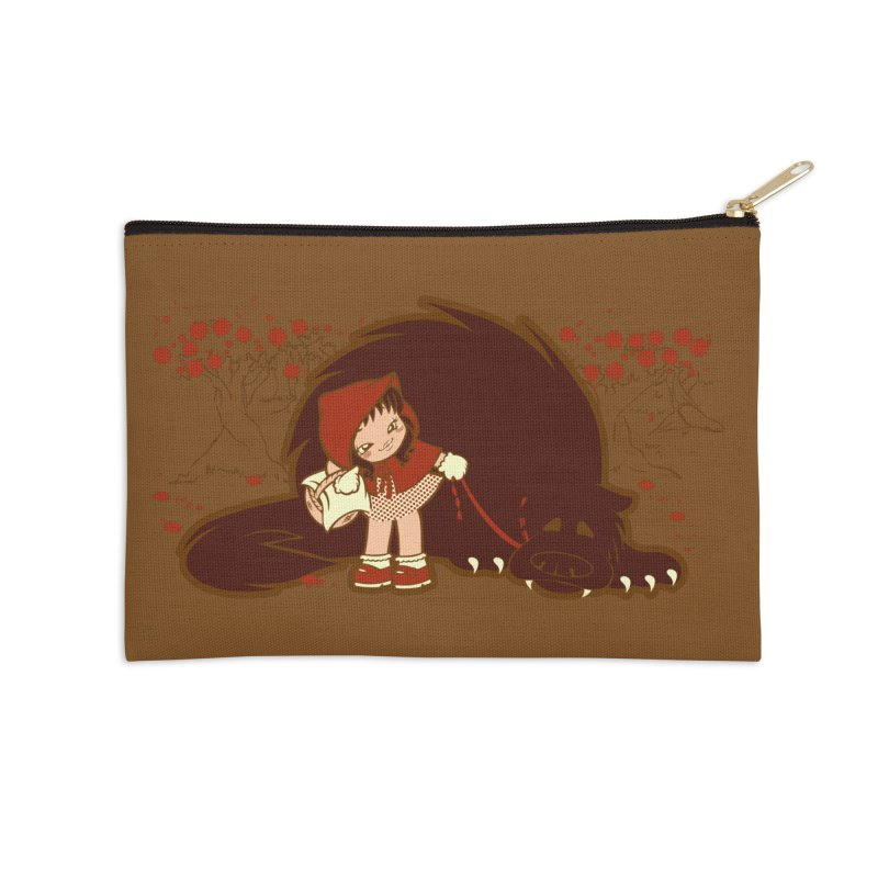 Bossy Red Riding Hood Accessories Zip Pouch by AlePresser's Artist Shop