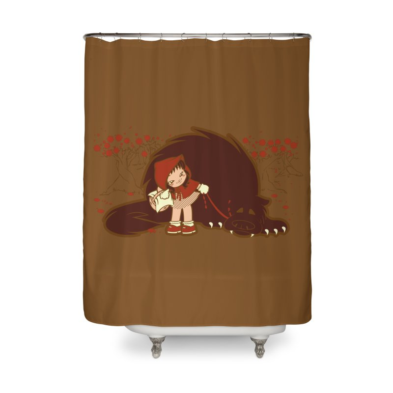 Bossy Red Riding Hood Home Shower Curtain by AlePresser's Artist Shop