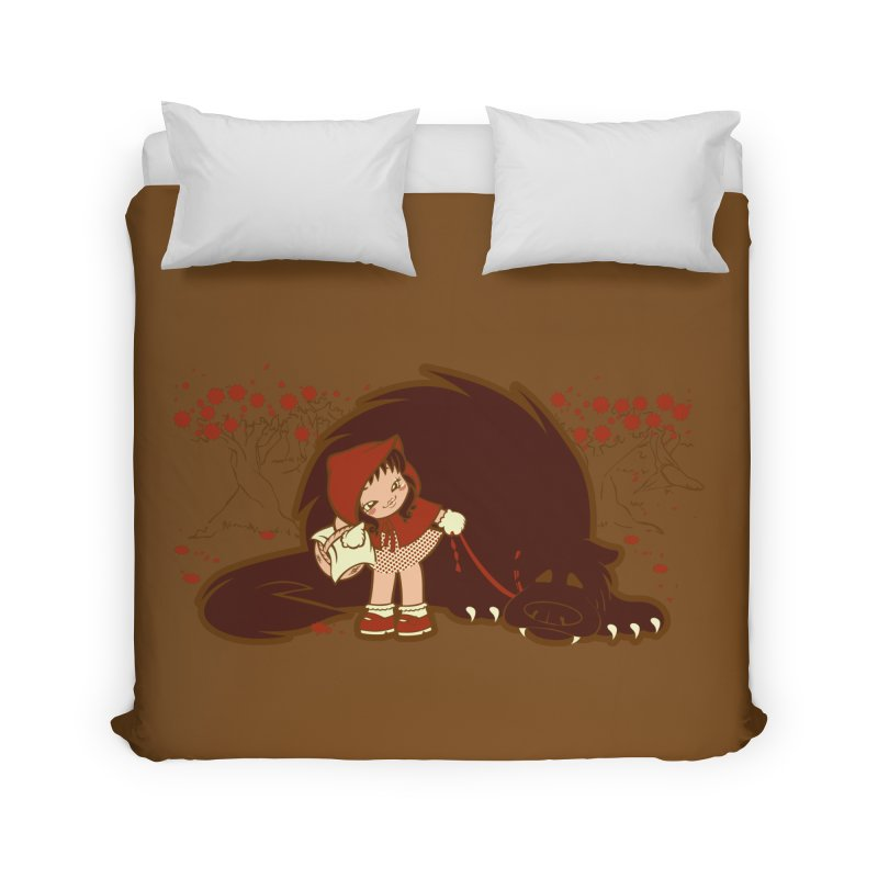 Bossy Red Riding Hood Home Duvet by AlePresser's Artist Shop