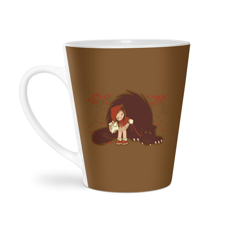 Bossy Red Riding Hood Accessories Latte Mug by AlePresser's Artist Shop