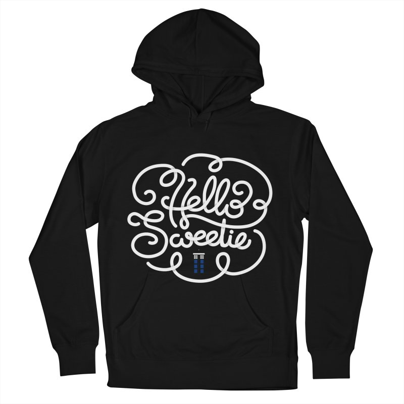 Hello Sweetie Men's French Terry Pullover Hoody by AlePresser's Artist Shop