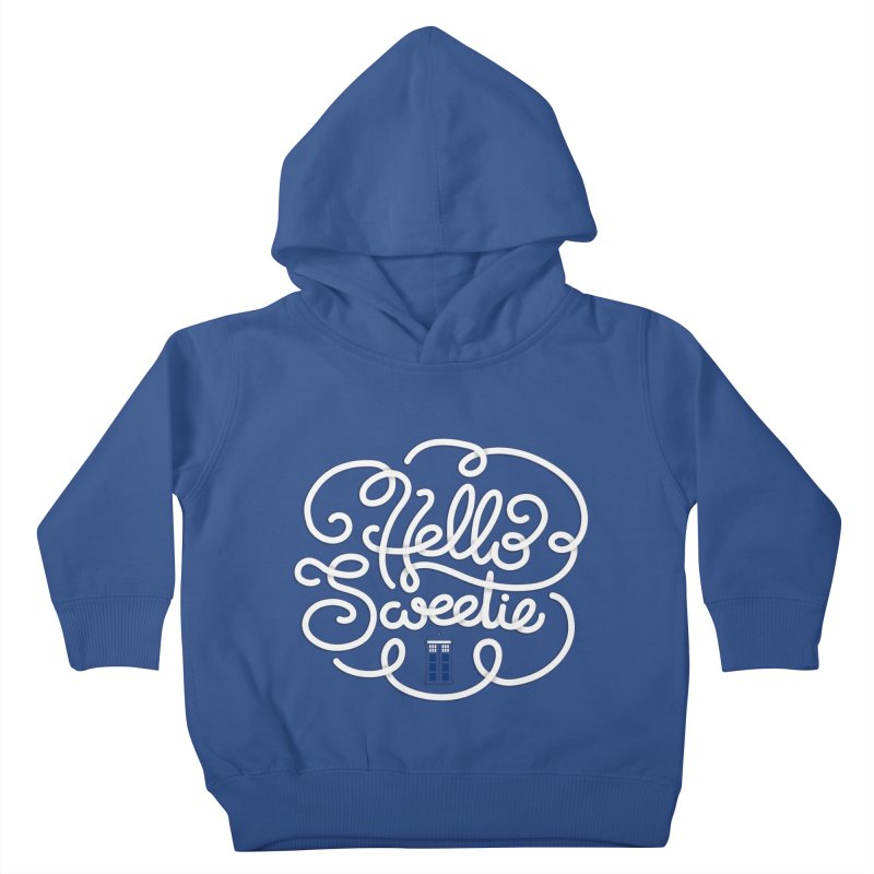 Hello Sweetie Kids Toddler Pullover Hoody by AlePresser's Artist Shop