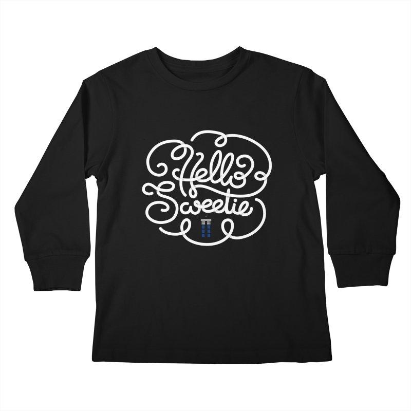 Hello Sweetie Kids Longsleeve T-Shirt by AlePresser's Artist Shop