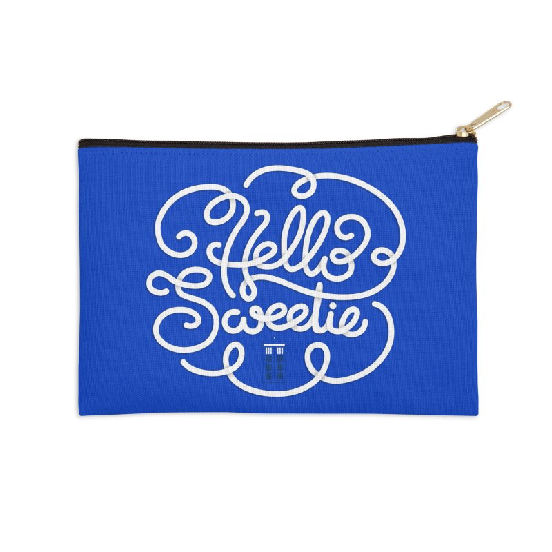 Hello Sweetie Accessories Zip Pouch by AlePresser's Artist Shop