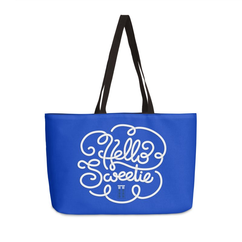 Hello Sweetie Accessories Weekender Bag Bag by AlePresser's Artist Shop