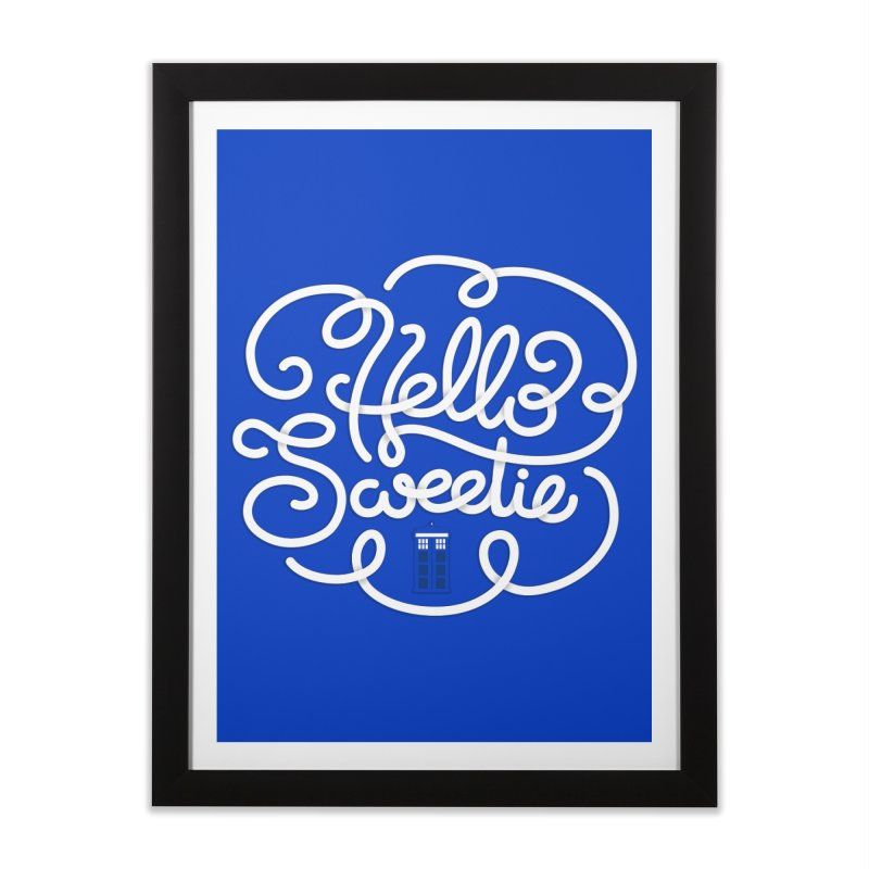 Hello Sweetie Home Framed Fine Art Print by AlePresser's Artist Shop