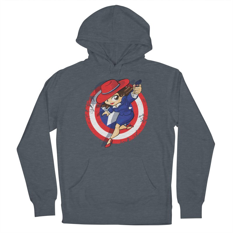 Peggy Carter Women's French Terry Pullover Hoody by AlePresser's Artist Shop