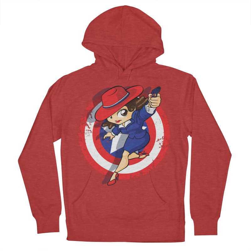 Peggy Carter Men's French Terry Pullover Hoody by AlePresser's Artist Shop