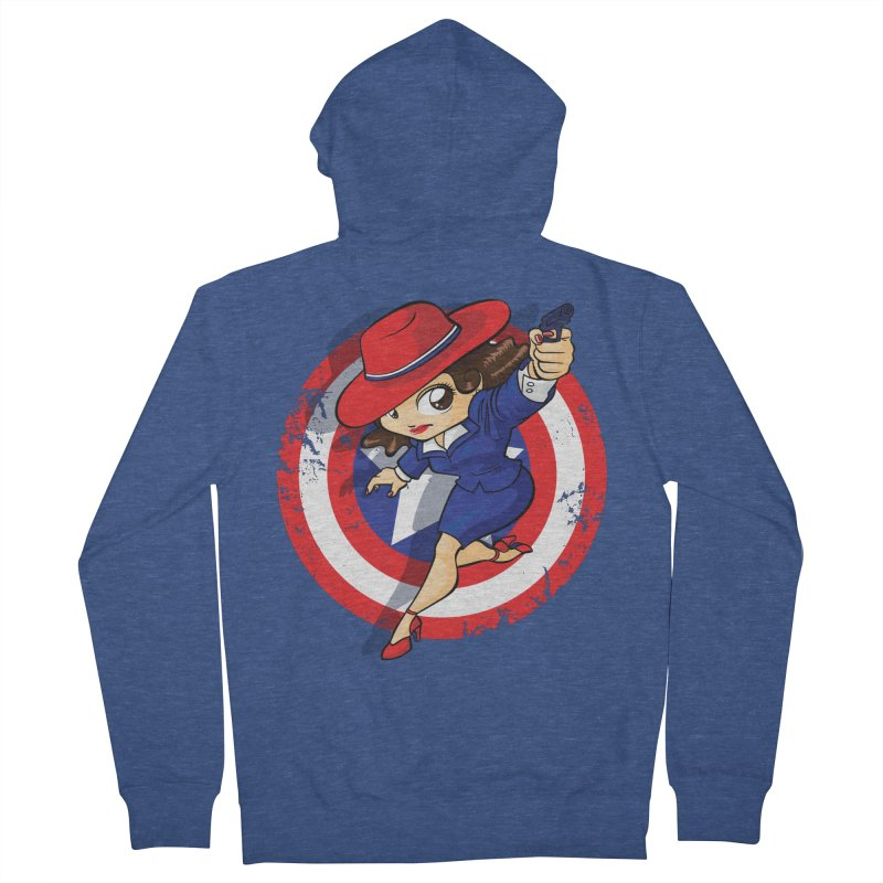 Peggy Carter Women's Zip-Up Hoody by AlePresser's Artist Shop