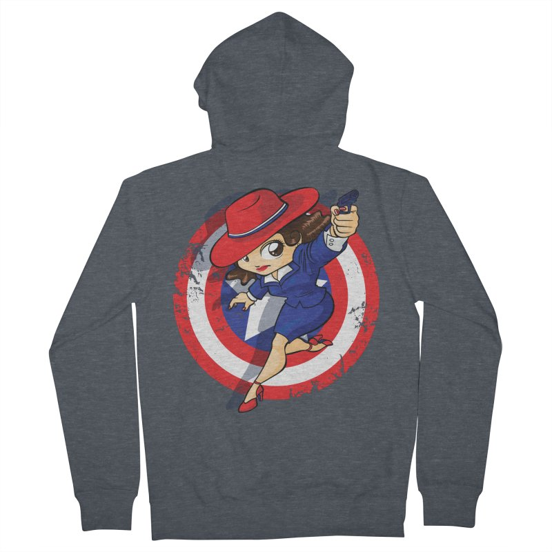 Peggy Carter Men's French Terry Zip-Up Hoody by AlePresser's Artist Shop