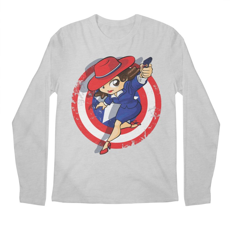 Peggy Carter Men's Longsleeve T-Shirt by AlePresser's Artist Shop