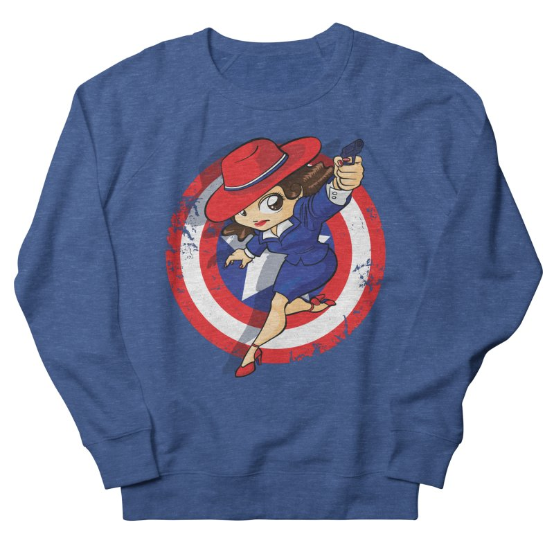 Peggy Carter Women's French Terry Sweatshirt by AlePresser's Artist Shop