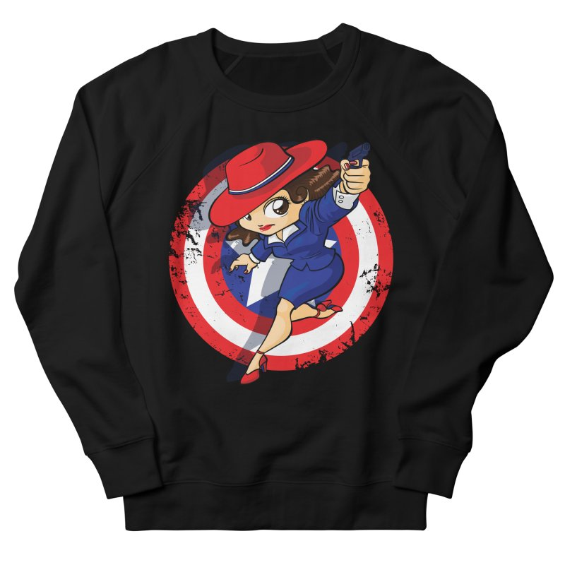 Peggy Carter Men's French Terry Sweatshirt by AlePresser's Artist Shop