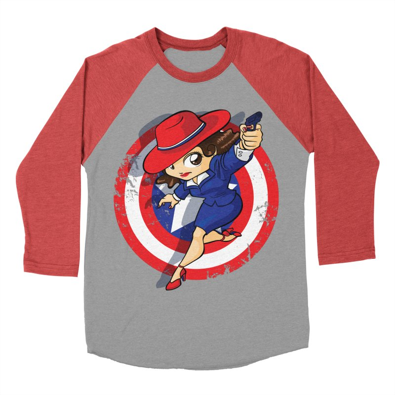 Peggy Carter Women's Baseball Triblend T-Shirt by AlePresser's Artist Shop