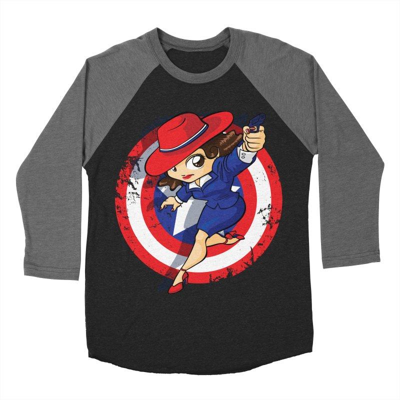 Peggy Carter Women's Baseball Triblend T-Shirt by AlePresser's Artist Shop