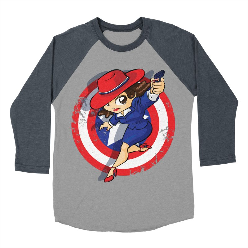 Peggy Carter Women's Baseball Triblend Longsleeve T-Shirt by AlePresser's Artist Shop