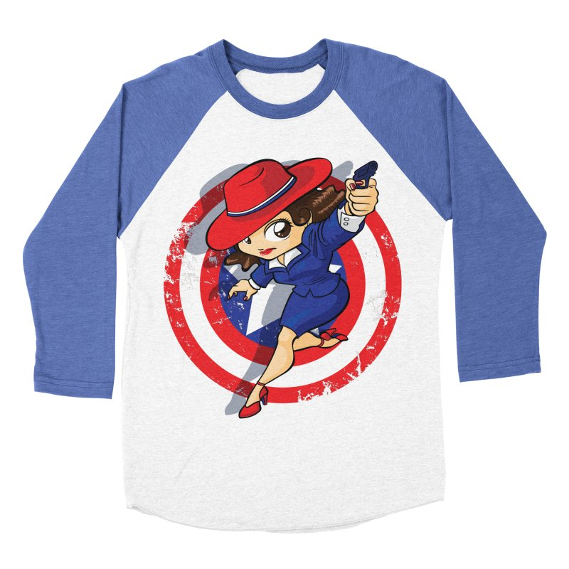 Peggy Carter Men's Baseball Triblend Longsleeve T-Shirt by AlePresser's Artist Shop
