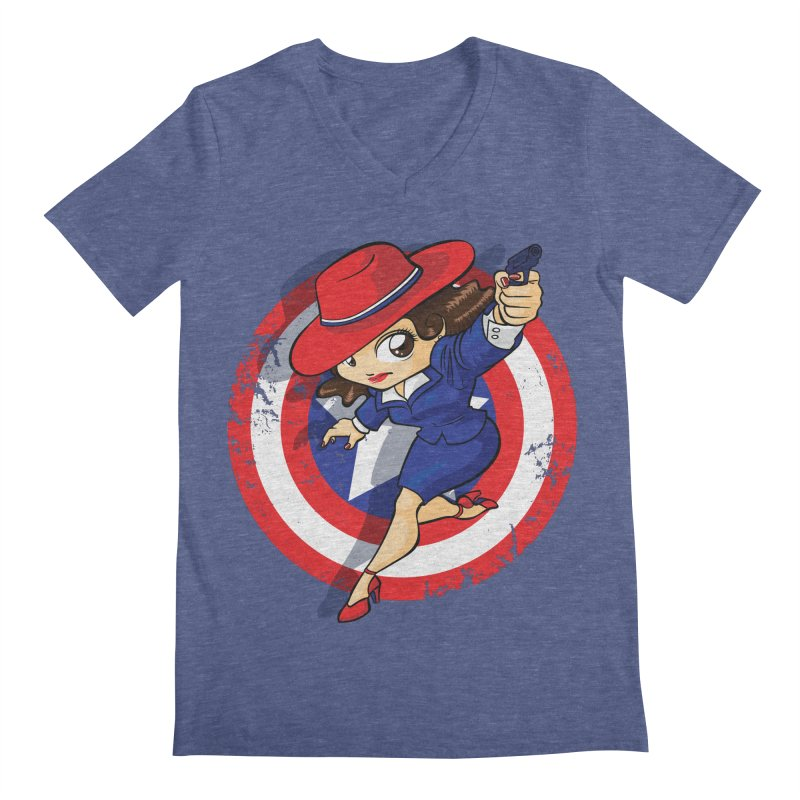 Peggy Carter Men's Regular V-Neck by AlePresser's Artist Shop