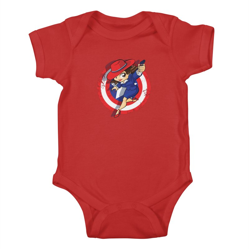 Peggy Carter Kids Baby Bodysuit by AlePresser's Artist Shop