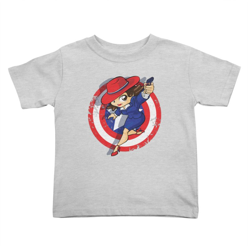 Peggy Carter Kids Toddler T-Shirt by AlePresser's Artist Shop