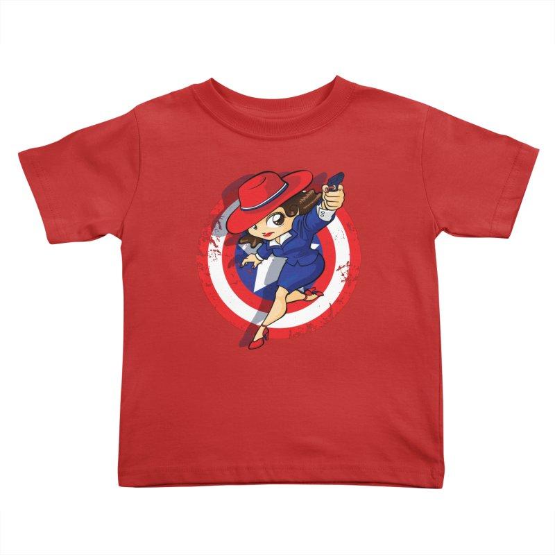 Peggy Carter Kids Toddler T-Shirt by AlePresser's Artist Shop