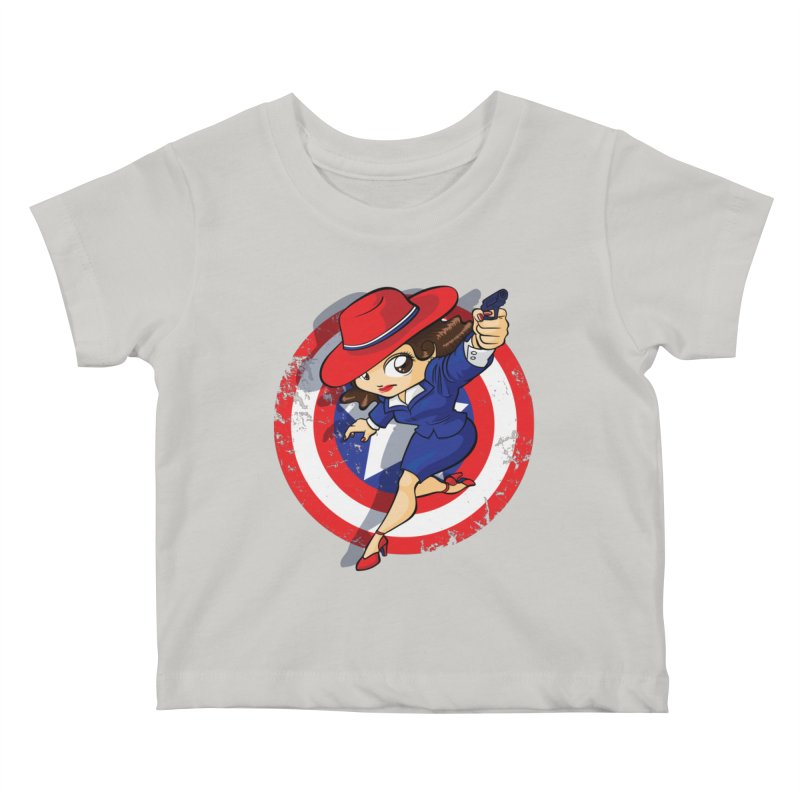Peggy Carter Kids Baby T-Shirt by AlePresser's Artist Shop