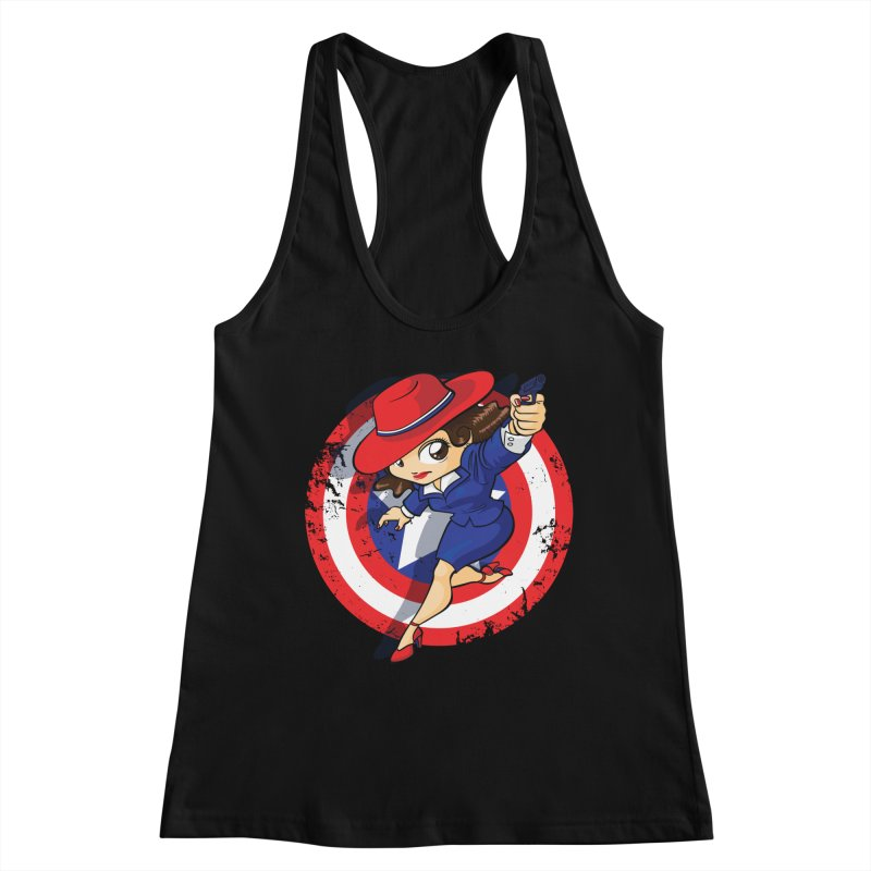 Peggy Carter Women's Racerback Tank by AlePresser's Artist Shop