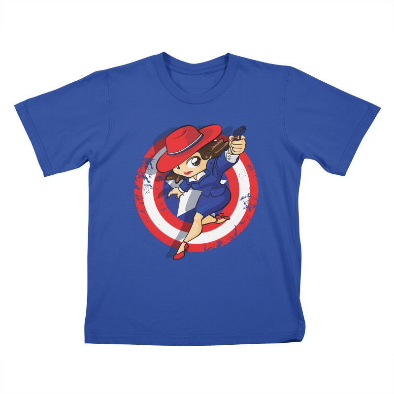 Peggy Carter Kids T-Shirt by AlePresser's Artist Shop