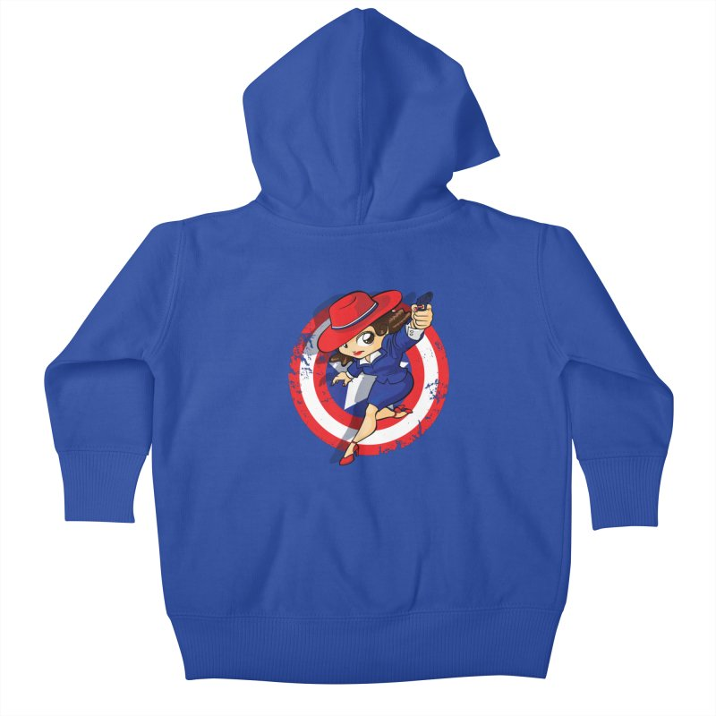 Peggy Carter Kids Baby Zip-Up Hoody by AlePresser's Artist Shop