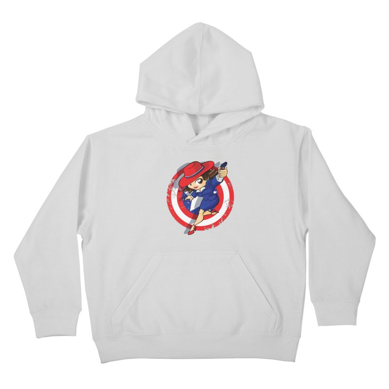 Peggy Carter Kids Pullover Hoody by AlePresser's Artist Shop