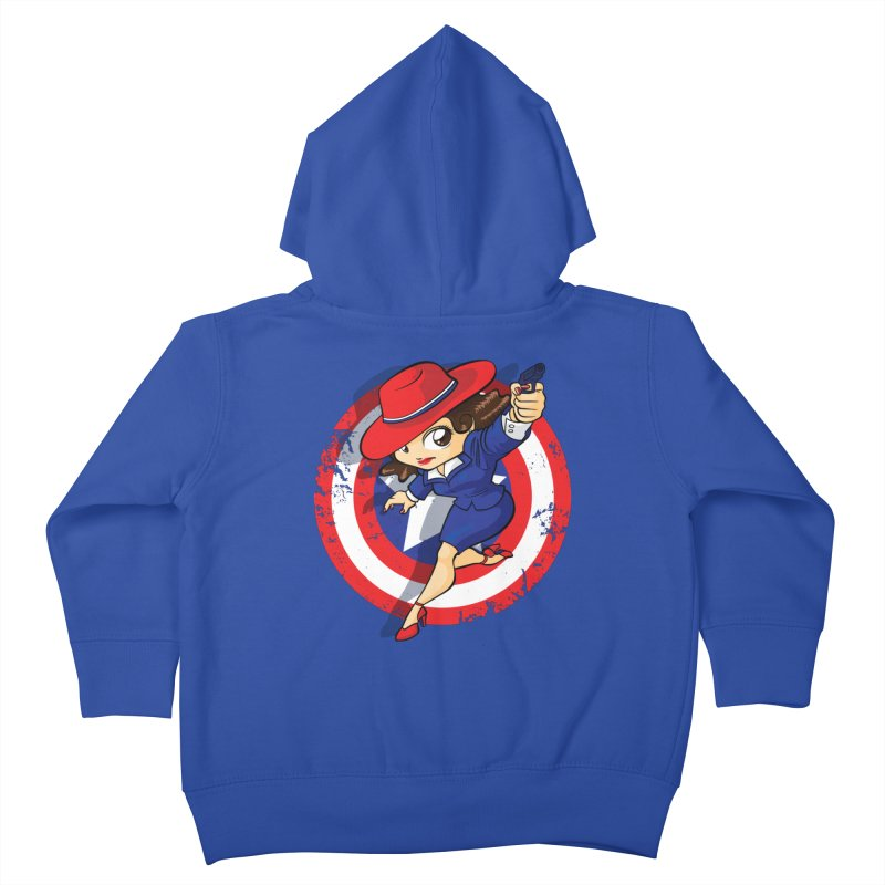 Peggy Carter Kids Toddler Zip-Up Hoody by AlePresser's Artist Shop