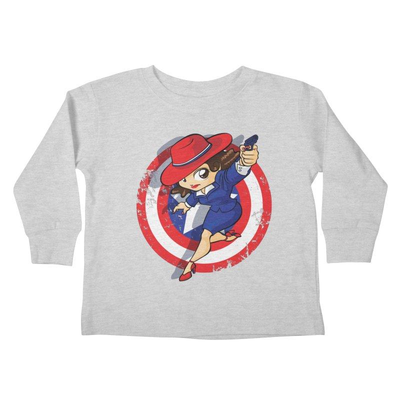Peggy Carter Kids Toddler Longsleeve T-Shirt by AlePresser's Artist Shop