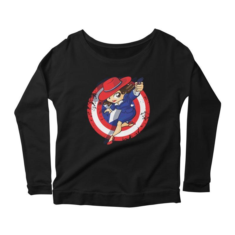 Peggy Carter Women's Scoop Neck Longsleeve T-Shirt by AlePresser's Artist Shop