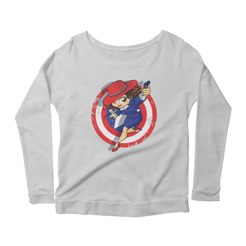 Peggy Carter Women's Longsleeve Scoopneck  by AlePresser's Artist Shop