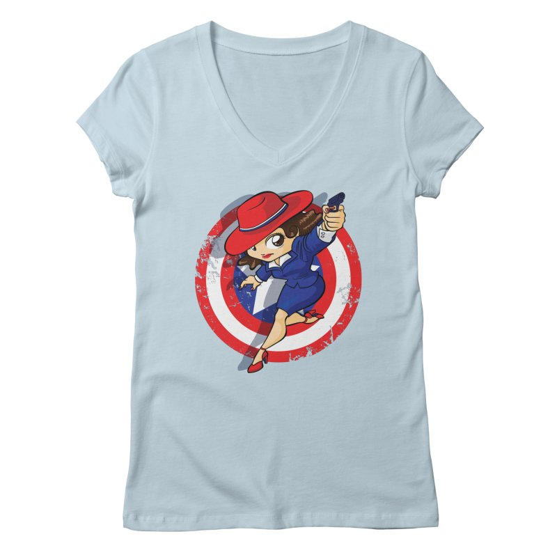 Peggy Carter Women's V-Neck by AlePresser's Artist Shop