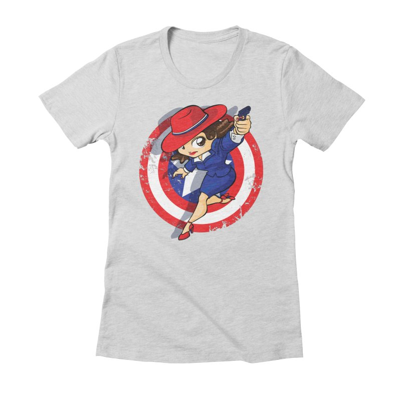 Peggy Carter Women's Fitted T-Shirt by AlePresser's Artist Shop