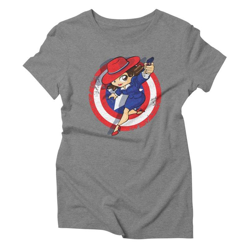 Peggy Carter Women's Triblend T-Shirt by AlePresser's Artist Shop