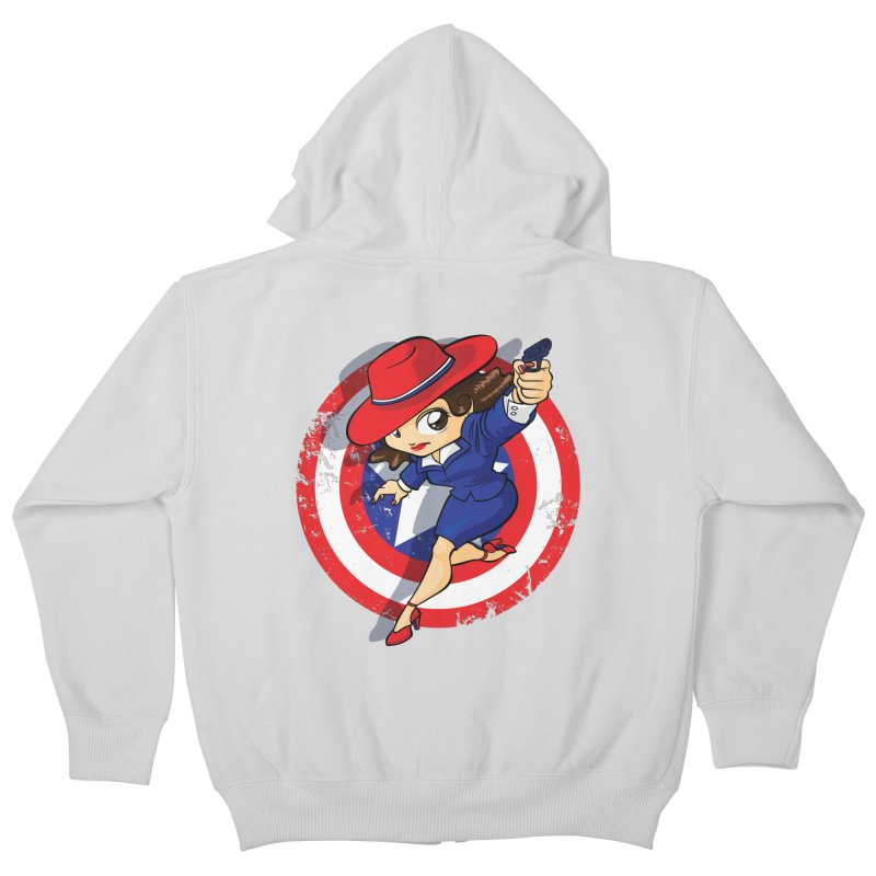 Peggy Carter Kids Zip-Up Hoody by AlePresser's Artist Shop