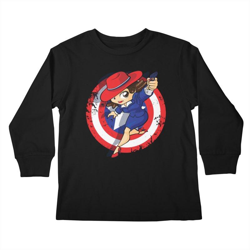 Peggy Carter Kids Longsleeve T-Shirt by AlePresser's Artist Shop