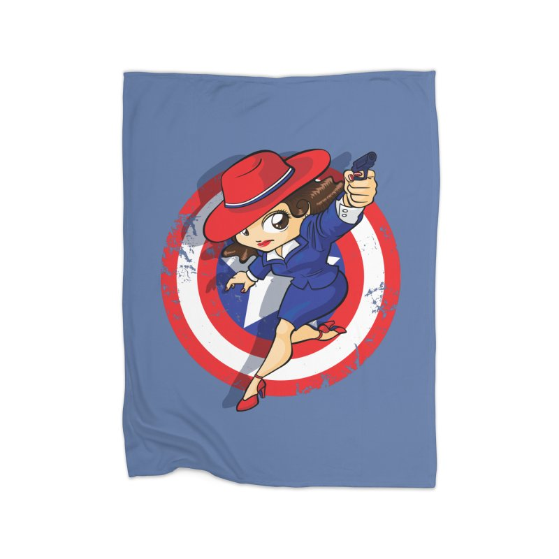 Peggy Carter Home Blanket by AlePresser's Artist Shop