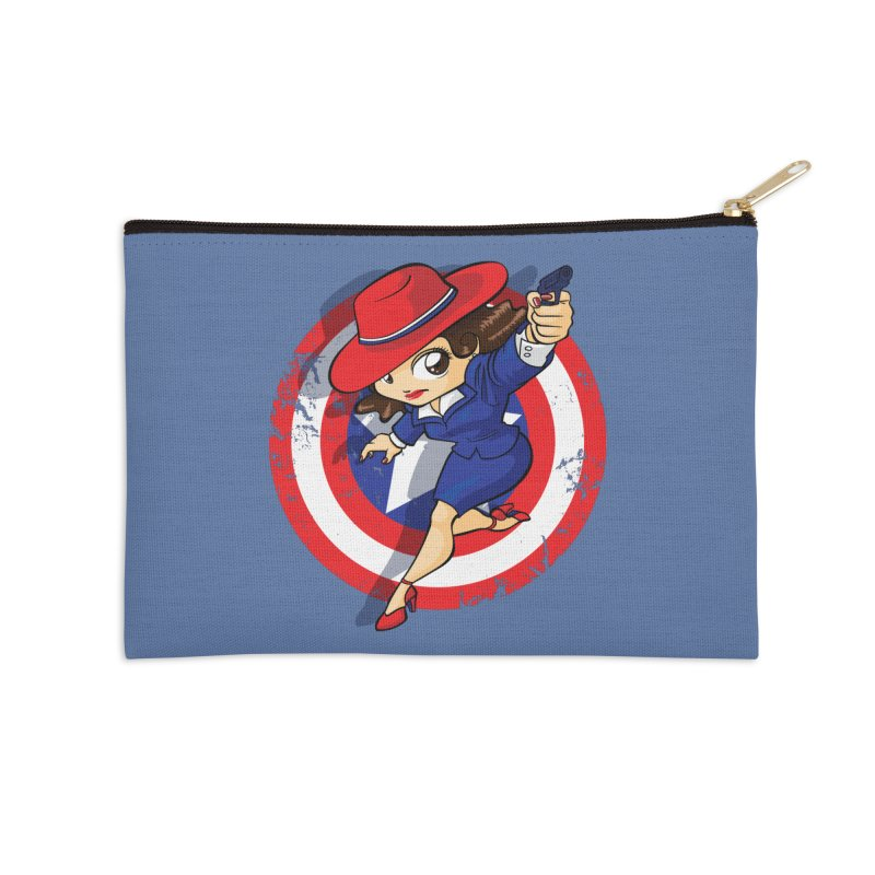 Peggy Carter Accessories Zip Pouch by AlePresser's Artist Shop