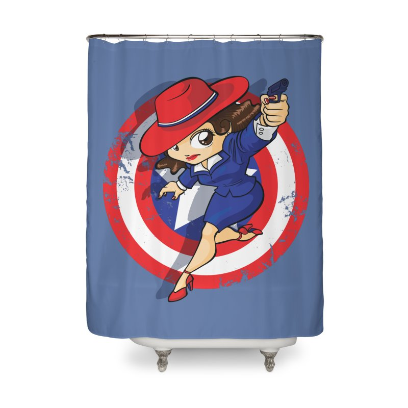 Peggy Carter Home Shower Curtain by AlePresser's Artist Shop