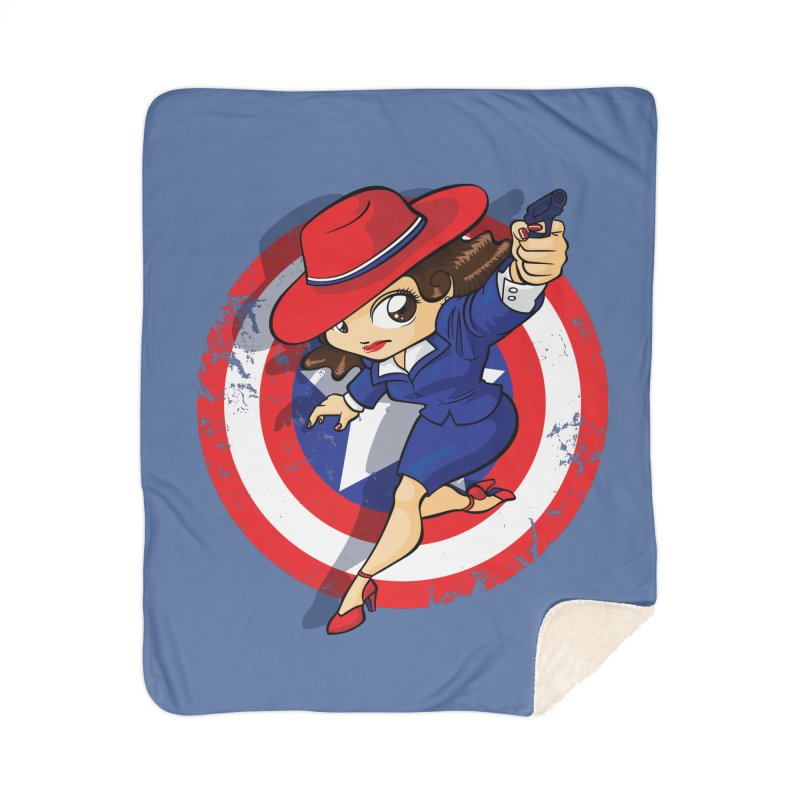 Peggy Carter Home Sherpa Blanket Blanket by AlePresser's Artist Shop