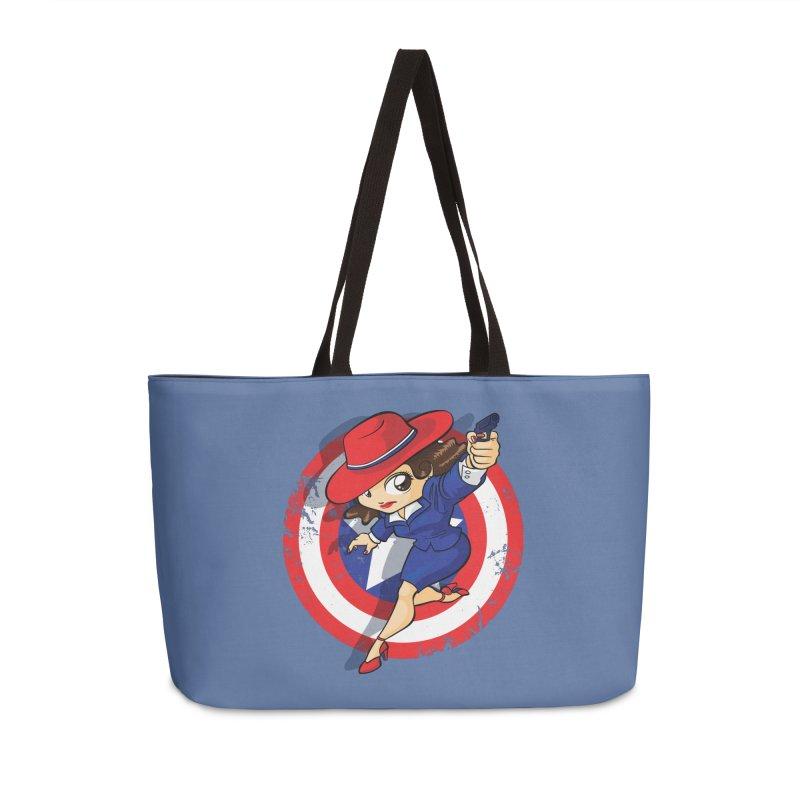Peggy Carter Accessories Weekender Bag Bag by AlePresser's Artist Shop
