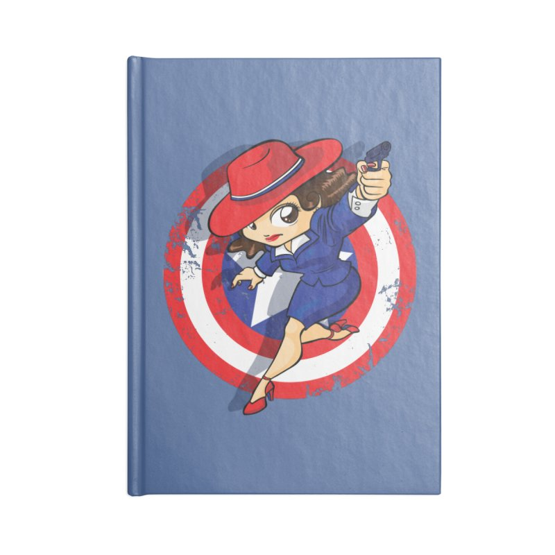 Peggy Carter Accessories Lined Journal Notebook by AlePresser's Artist Shop