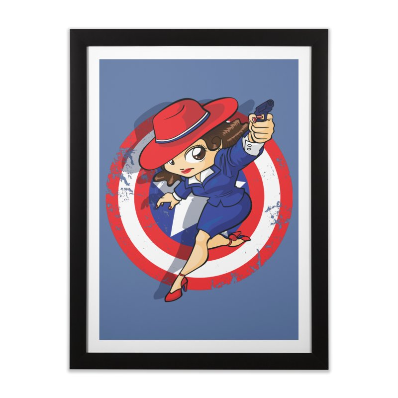 Peggy Carter Home Framed Fine Art Print by AlePresser's Artist Shop