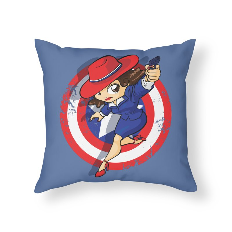 Peggy Carter Home Throw Pillow by AlePresser's Artist Shop