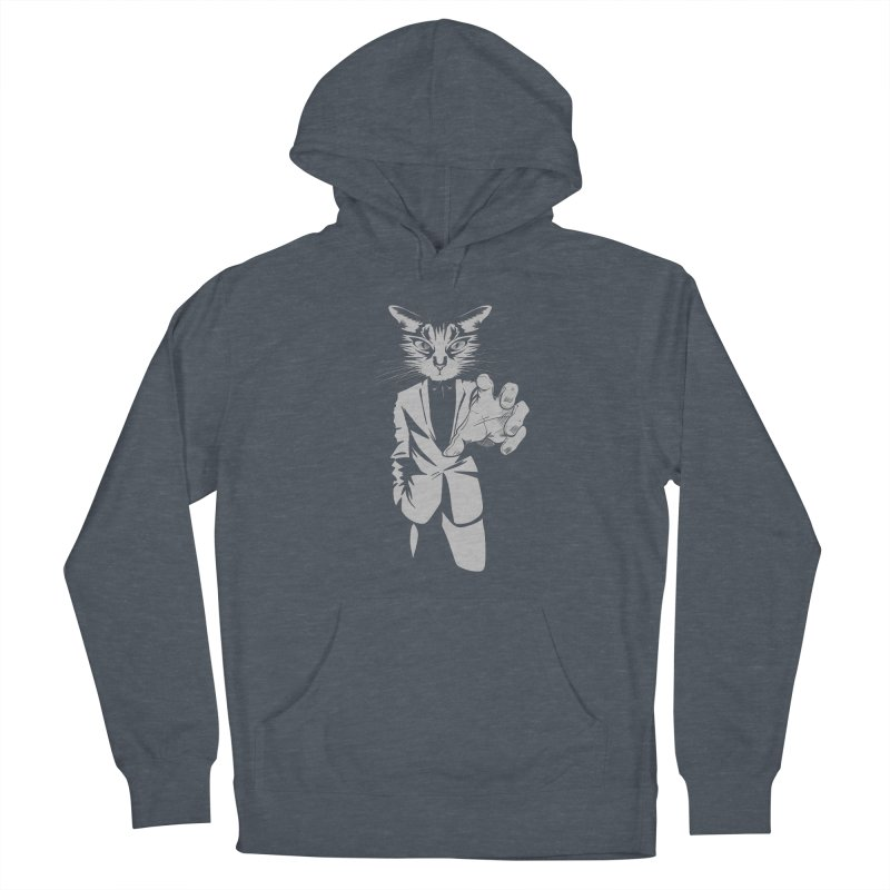 The Cat Men's French Terry Pullover Hoody by AlePresser's Artist Shop