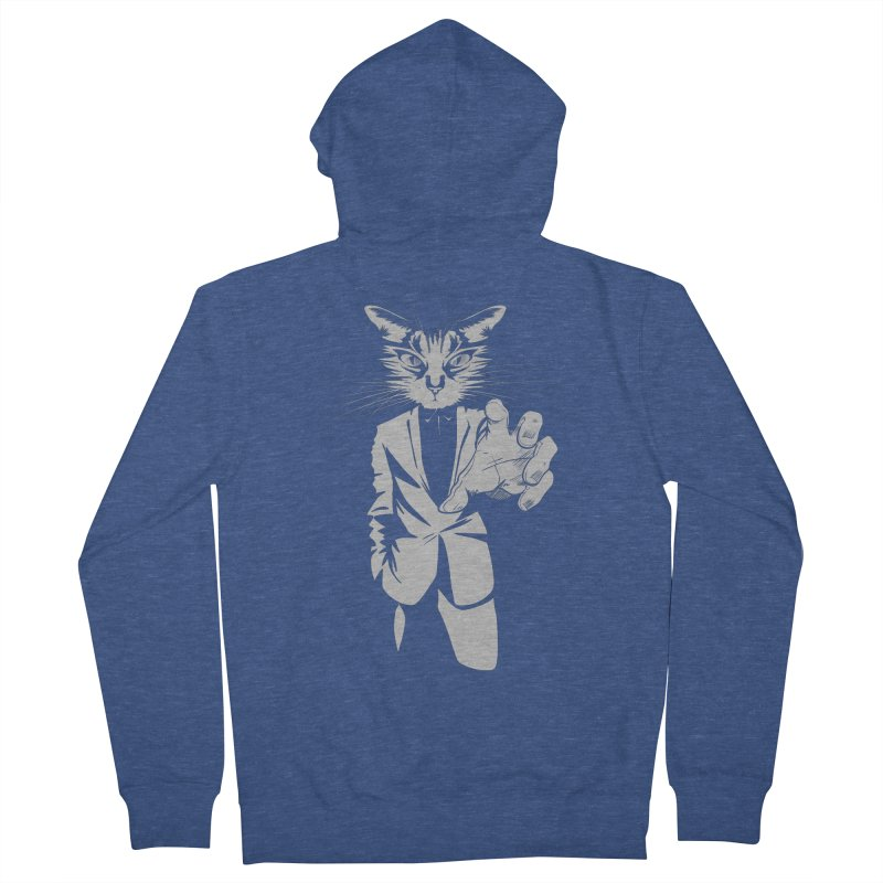 The Cat Women's French Terry Zip-Up Hoody by AlePresser's Artist Shop